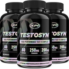 Testosyn (3 Pack) -High Performance Testosterone Pills -Boost Sex Drive & Energy