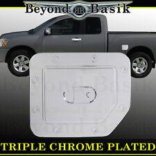 Fits TITAN NISSAN Reg Gas Door Cover Triple ABS Chrome Fuel  Cap Trim Overlays