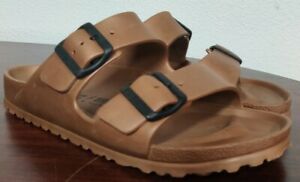 Birkenstock Women's Arizona Essentials EVA Sandals Bronze Copper 40 US 9 Narrow