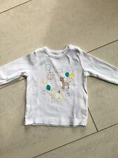 ESPRIT ~ Shirt, LA-Shirt, Baby 👶 Mädchen/Jungen, Gr. 68, weiss mit Motiv