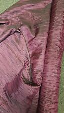 "1 roll 80 yards Crease taffeta crushed  dark rose tablecloth dresses 54""width"