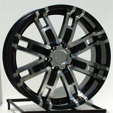 18 inch Black Wheels/Rims Chevy GMC Sierra 6 Lug 1500 Truck Avalanche Yukon Helo