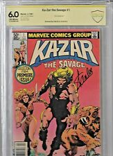 KAZAR 1 MARVEL COMIC SIGNED STAN LEE CBCS 6.0 - RARE