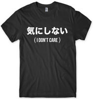 Chinese Writing (I Don't Care) Mens Funny Unisex T-Shirt
