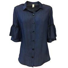 Camicia donna denim manica 3/4 ETiCi art E1/1722 100% lyocell MADE IN ITALY