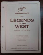 White Ace Legends of the West Specialty topical Stamp album collection pages New