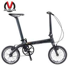 SAVA ZQ Folding Bike 14'' Carbon Fiber Urban Mini City Bicycle Single Speed