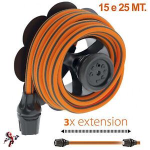 Claber Tubo Estensibile Springy 15 e 25 mt Arancione e Nero