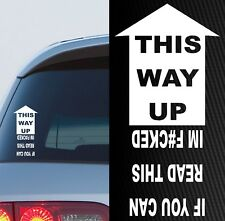 THIS WAY UP STICKER FUNNY 4x4 DECAL FOR 4WD 200mm