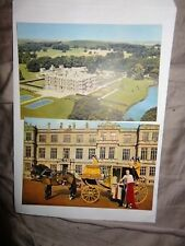 Postcards x 2 : Longleat, Warminster, Marquess Of Bath Carriage and house 1-99
