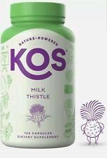 KOS Milk Thistle Capsules 500mg Potent Milk Thistle Seed Extract 120 caps 3/22