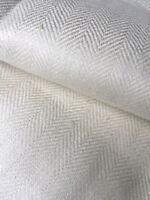 Leinen Mangeltuch Fischgrätmuster 220/79,5 cm um 1920 ,Antique Linen Mangelcloth