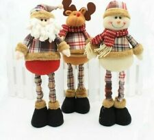 Santa Claus Snowman Christmas Dolls For Home Decoration Retractable Standing Toy