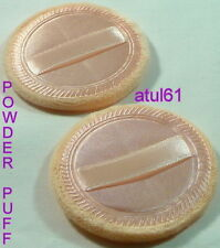 POWDER PUFF COSMETIC MAKEUP FACE SPONGES BEAUTY FOUNDATION COMPACT x 2 NEW