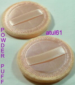 POWDER PUFF COSMETIC MAKEUP FACE SPONGES BEAUTY FOUNDATION COMPACT PACK OF 2 NEW