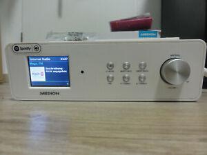 """MEDION P85063 WLAN Unterbau Internetradio DAB+ UKW 3,2"""" Farbdisplay DLNA USB AUX"""