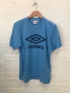 Umbro Men's Logo T-Shirt Crew Neck Top Short Sleeve T-Shirt - Sky Blue - New