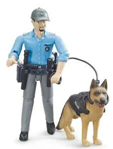 Policier avec chien ,BRU62150, échelle1/16,BRUDER