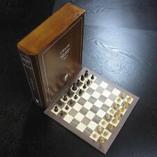 Wood Board Game Set 12 Book Classic Collection - Vol 1 Chess w Wooden Pieces NEW