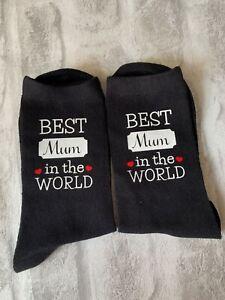 World's Best Mum / Best Mum In The World Socks Mothers Day Birthday Christmas