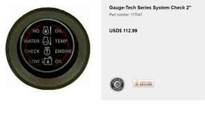 System Check Indicator Gauge For Johnson/Evinrude - 177047
