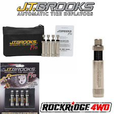 JT Brooks PRO AUTOMATIC TIRE DEFLATORS SET OF 4 USA MADE Jeep Truck 4X4 OFFROAD