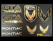 Trans Am GTA Emblem Kit - BLACK  - 8 Piece Kit for 87-90 Firebird TA GTA