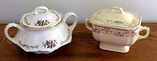 Lot of two Beautiful Vintage Sugar Bowls with Lids by Homer Laughlin