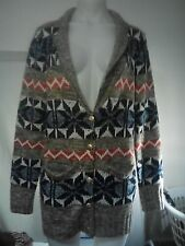 Teasel Ladies Cardigan in a Multi-Coloured Knit Pattern Size 12