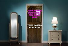 Door Mural Horse Stable Your image here View Wall Stickers Decal Wallpaper 44A