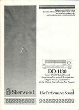 SHERWOOD - DD-1130 - Instructions Bedienungsanleitung - B2259