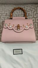 Gucci 2way Bamboo Japan Exclusive Pink Leather Shoulder Bag