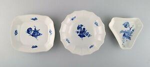 Three Royal Copenhagen Blue Flower bowls / dishes. 1960s