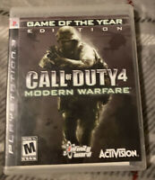 Call of Duty 4: Modern Warfare (Sony PlayStation 3, 2007) PS3 GAME COMPLETE