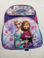 "Disney Frozen Elsa and Anna12"" Toddlers School Backpack Book Bag Original Disney"