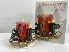 New ListingDept 56 North Pole Village Series Jack B. Nimble Candle Shop Euc 4030719