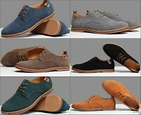 Hot fashion mens oxford retro casual suede leather wingtip lace up dress shoes