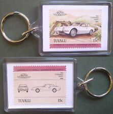 1963 Studebaker Avanti Car Stamp Keyring (Auto 100 Automobile)