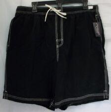 Roundtree & Yorke Swimwear Size L Large Black New Mens Swimming Trunks