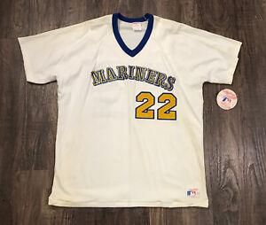 VTG 1980s MLB Seattle Mariners Rawlings USA Made Jersey Shirt #27 New Tags Rare
