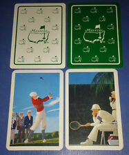 GOLF TENNIS SPORTS - Lot of 4 Single Vintage Swap Trading Playing Cards
