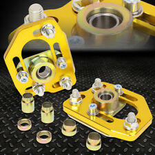 FOR 90-93 FORD MUSTANG FRONT ADJUSTABLE +/-3.0 CAMBER +/-2.0 CASTER PLATES GOLD
