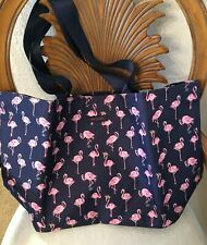 Vera Bradley Lighten up Large Family Tote Flamingo Fiesta Shoulder Beach