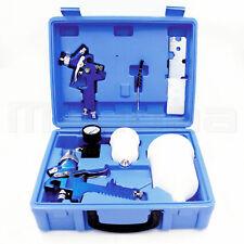 Hvlp Air Gravity Spray Paint Gun Set Auto Car Sprayer Primer Basecoat Clearcoat