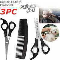 3PC Professional Salon Hairdressing Hair Thinning Cutting Barber Scissors Set