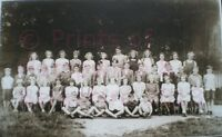 "PRINT 10"" X 7""  KINGSCLERE SCHOOL CHILDREN GROUP WITH TEACHER c1945 HAMPSHIRE"