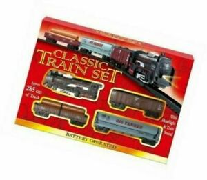 KandyToys Classic Style Train and Track Set | Battery Operated Train Set |