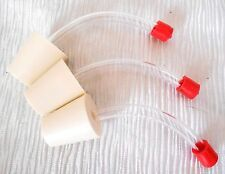 3 DELUXE HUMMINGBIRD REPLACEMENT FEEDER TUBES w STOPPER Replace / Make Your Own