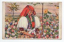 RUSSIE Russia Théme Types russes costumes Une femme dans les fleurs