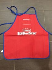 2 Lowes Build and Grow Childs Apron